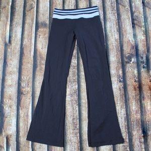 Lululemon Black Yoga Pants Blue Black Striped Band